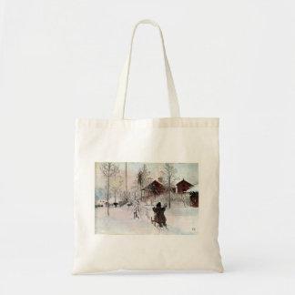 La yarda y el Lavado-House, Carl Larsson