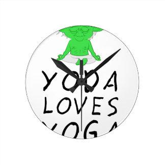 la yoga ama yoga reloj redondo mediano