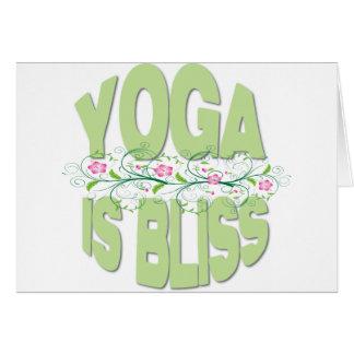 La yoga es camisetas de la dicha tarjeta