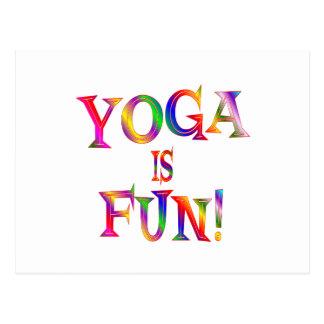 La yoga es diversión tarjetas postales