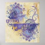 La yoga habla: Paz púrpura Chakra Poster