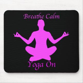 La yoga Mousepad respira calma Alfombrilla De Ratón