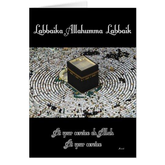 Labbaika Allahumma Labbaik Tarjeta De Felicitación