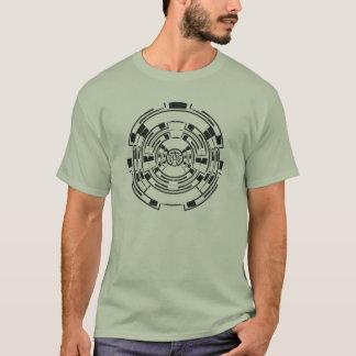 Laberinto circular camiseta