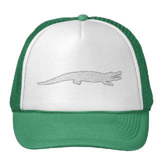 Laberinto del cocodrilo gorras de camionero