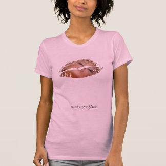 Labio caliente de las señoras - manga casquillo - camisetas