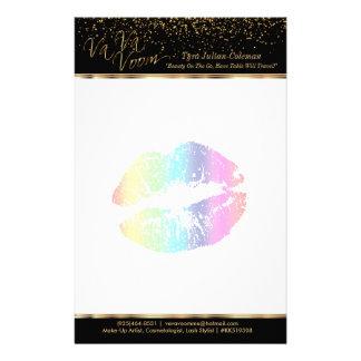 Labios 2 del arco iris del Va Va Voom Papelería De Diseño
