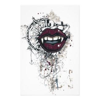 labios de Drácula del vintage Papelería