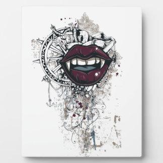 labios de Drácula del vintage Placa Expositora
