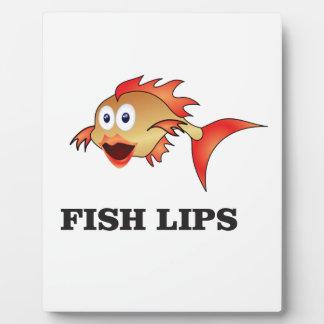 labios de los pescados placa expositora