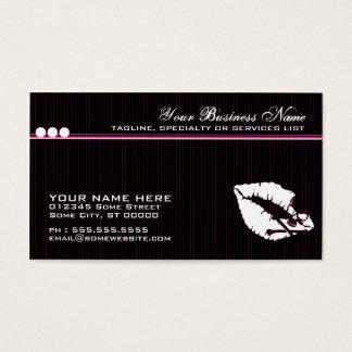 labios del veneno tarjeta de negocios