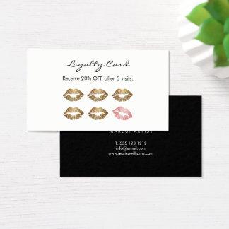 Labios elegantes del oro de la lealtad del artista tarjeta de negocios