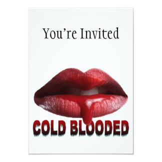 Labios fríos de Blooded Invitación 12,7 X 17,8 Cm