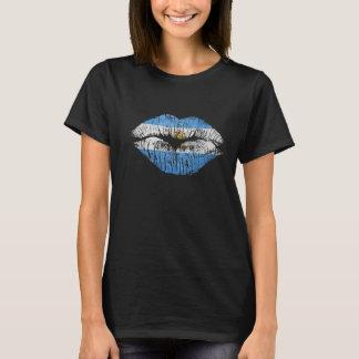 labios la Argentina Camiseta