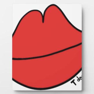 Labios rojos placa expositora