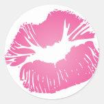 Labios rosados pegatinas