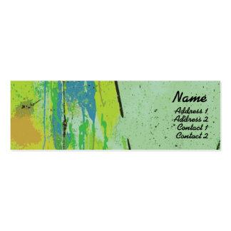 Labios verdes - flacos tarjetas de visita mini