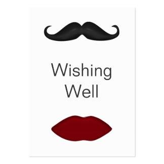 labios y bigote que desean tarjetas bien tarjeta de visita
