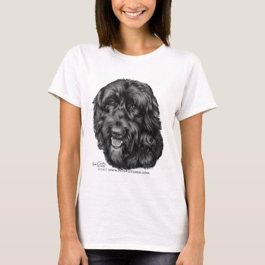 Labradoodle negro camiseta