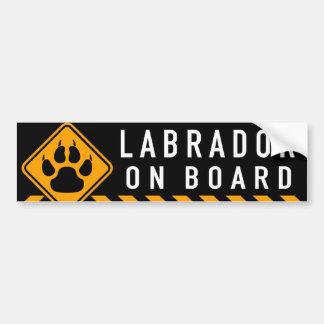 Labrador a bordo pegatina para coche