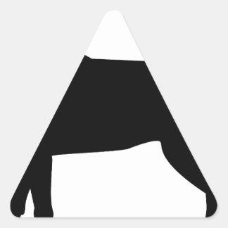 Labrador negro con el cuello rojo pegatina triangular