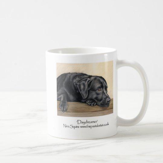 Labrador negro taza de café