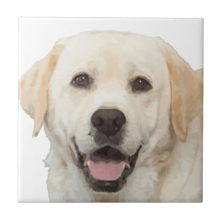 Labrador retriever 1 azulejo cuadrado pequeño