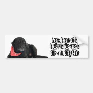 Labrador retriever a bordo pegatina de parachoque