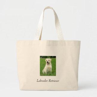 Labrador retriever bolsa de tela grande