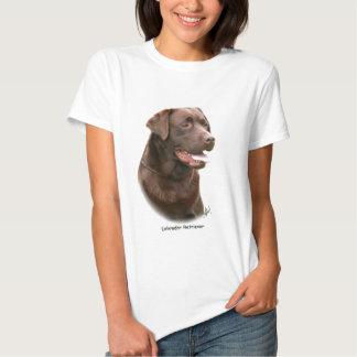 Labrador retriever del chocolate camisetas
