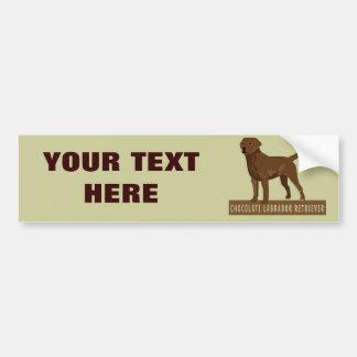 Labrador retriever del chocolate pegatina de parachoque