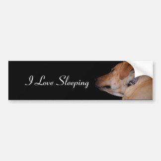 Labrador retriever durmiente divertido pegatina para coche