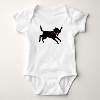 Labrador retriever (negro) body para bebé