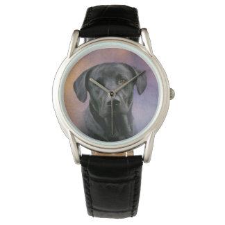 Labrador retriever negro reloj