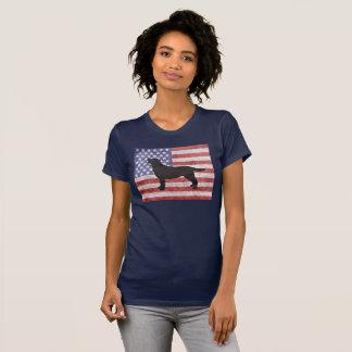 Labrador retriever patriótico 4to de la camiseta