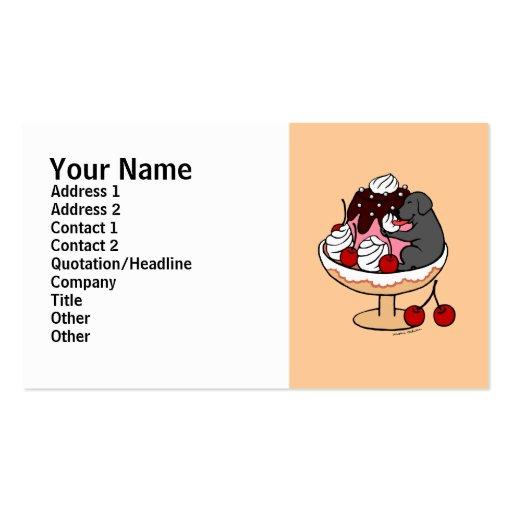 Labrador y helado negros del helado tarjetas de negocios