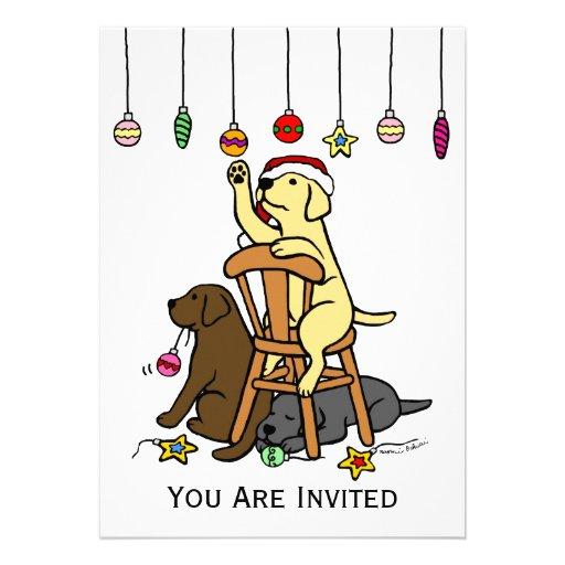 Labradors y dibujo animado de los ornamentos del n comunicado personal