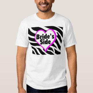 Lado de las novias (estampado de zebra) camisas