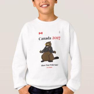 Lado salvaje fresco de Canadá 150 en 2017 Sudadera