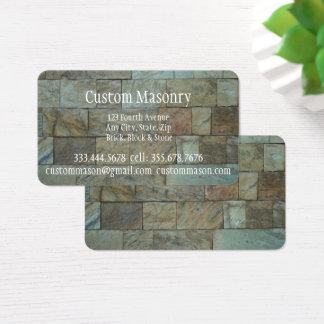 Ladrillo de la albañilería, negocio del tarjeta de visita