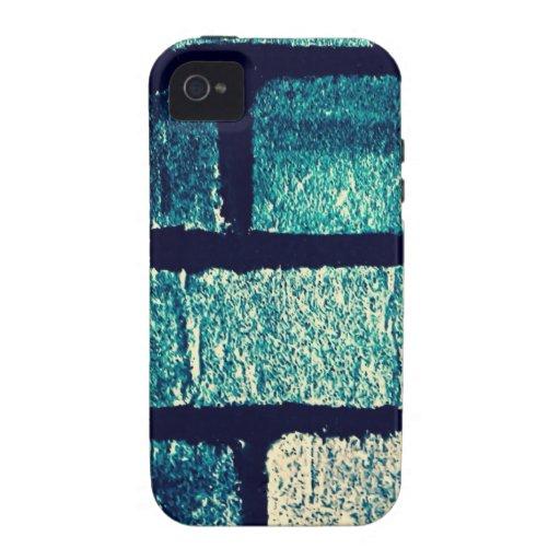 Ladrillos azules iPhone 4 carcasa