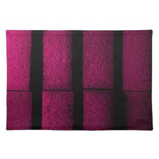 Ladrillos púrpuras salvamanteles