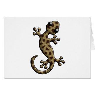 Lagarto que sube de la piel de la jirafa tarjeta de felicitación