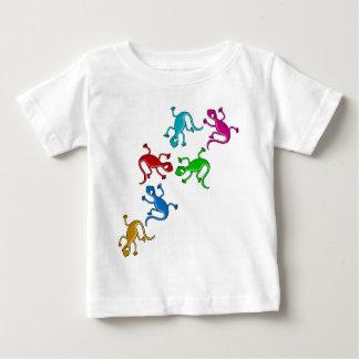 Lagartos coloridos, juguetones camiseta de bebé