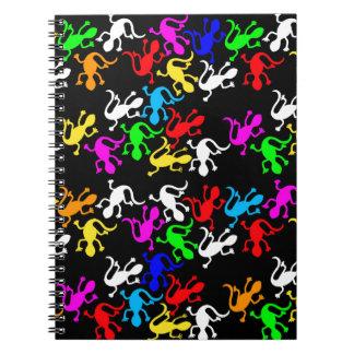 Lagartos coloridos - modelo cuadernos