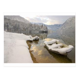 Lago Bohinj en el invierno, Eslovenia Tarjeta Postal