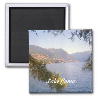 Lago Como 2 Imán Cuadrado