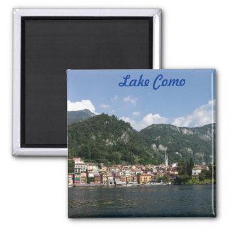 Lago Como Imán Cuadrado