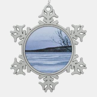 Lago congelado adornos