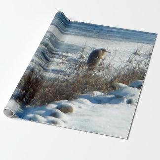 Lago congelado Egret Papel De Regalo
